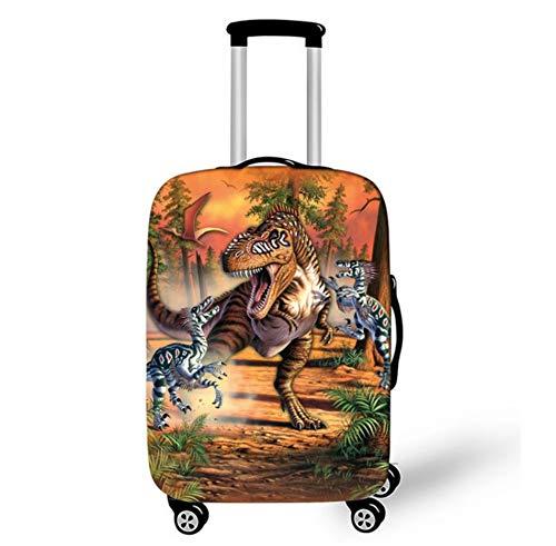 Cubierta De Protector De Equipaje De Viaje Patrón De Dinosaurio Spandex Maleta Trolley Equipaje Cubierta A Prueba De Polvo Y Arañazos 26-28 Pulgadas L