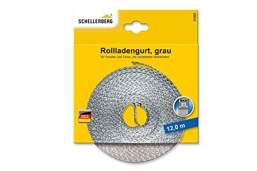 Schellenberg 31101Gurt-Rollladen für Fenster Breite 23mm System MAXI 12m, grau, 31102