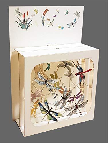 3D Multi-layered Magic Box Card - Dragonflies