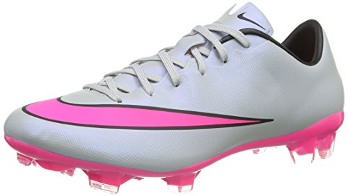 Nike Mercurial Veloce II FG Firmground Men Soccer Cleats - Grey Pink Size: 11