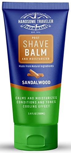 Post Shave Balm Aftershave Lotion For Men And Cream Moisturizer All-Natural And Organic Ingredients Calms Skin Eliminates Razor Burn And Irritation