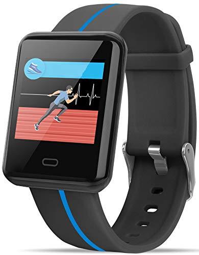 Fitness armband horloge met stappenteller dames heren polshorloge mannen zwart pedometer calorieënteller smartwatch rood blauw vrouwen waterdicht IOS Andriod