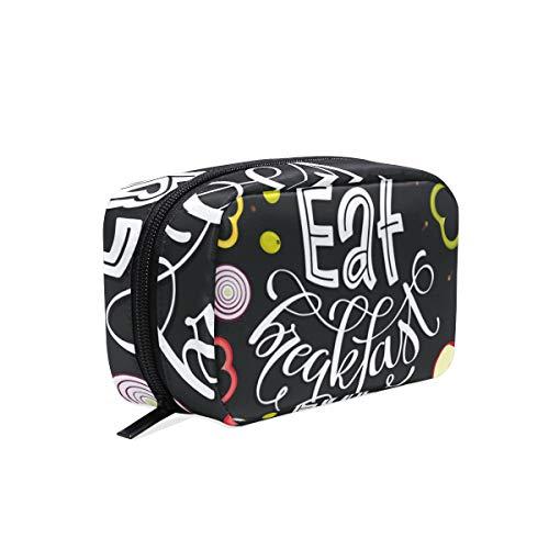 Trousse de toilette pour cosmétiques, maquillage, trousse de toilette pour sac à main, organiseur avec compartiments accessoires de voyage Mini femmes dames manger petit déjeuner