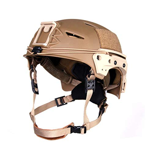 SWAT LAPD Tactical Helm SEK Polizei Fast FMA TB1044 Airsoft grau und sand #18735, Farbe:Sand