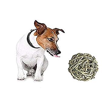 Ogquaton 1X Rotin Ball Safe Pet Jouet à mâcher pour Lapin Chauves-souris Hamster Chatons DIY Accessoire Jouet Pet Supplies Nouveau Released