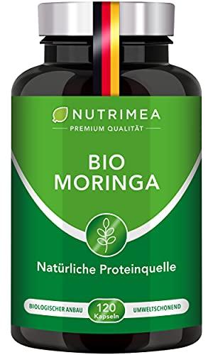 BIO Moringa Oleifera Kapseln | BIO Qualität OHNE Zusätze | Energy Caps 4 MONATSVORRAT | Qualitätsprodukt von NUTRIMEA® | SUPERFOOD reich an Protein, Vitamin C, Aminosäuren 100{188fc97589fb3f8725e9cb9351c70680d0c904da2f6dae12199d9f5435bc8876} VEGAN