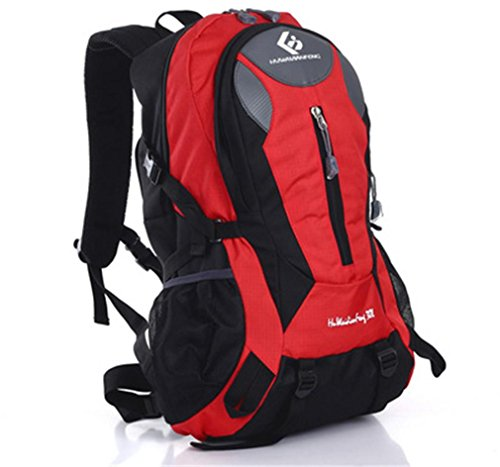 LYY Trekking Sac à Dos Sports de Plein air Multi-Fonctionnel Étanche Durable Camping Escalade Sac de Voyage, Red