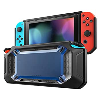 MoKo Case for Nintendo Switch Heavy Duty Protective Slim Hard Cover Switch Shell Shock-Absorption and Anti-Scratch for Nintendo Switch Console & Joy Con Controllers 2017 – Blue & Black