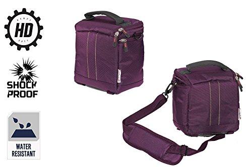 Navitech lila Camcorder/Kamera/Schultertasche/Tasche für Besteker HD 1080P 24MP 16X Digital Zoom Video Camcorder