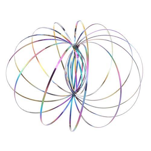 LIOOBO Anello di Flusso Giocattoli cinetica Giocattolo a Molla Magico Braccialetto Stress Relief 3D Scultura Che scorre Anello Gioco Giocattolo per Bambini Giocattolo Regalo (colorato)