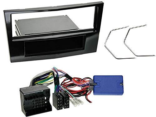1 Din Radio Einbauset mit Lenkradfernbedienung für Opel Corsa D (S-D) 2009-2014 Piano Black