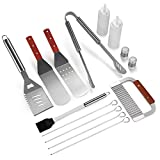 IMAGE BBQ Tool Set 14PCS Barbecue Accessories Stainless Steel Utensil Kit for Outdoor Grill Picnic Camping Teppanyaki