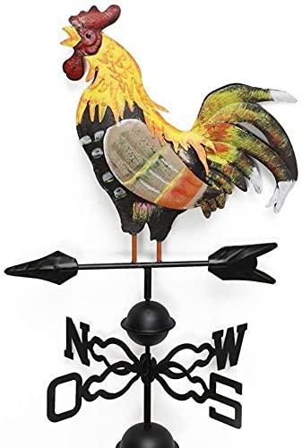 SHKUU Veleta de Gallo, dirección del Viento de Metal, la decoración de jardín de Veleta de Gallo de Dibujo en Color Tradicional.