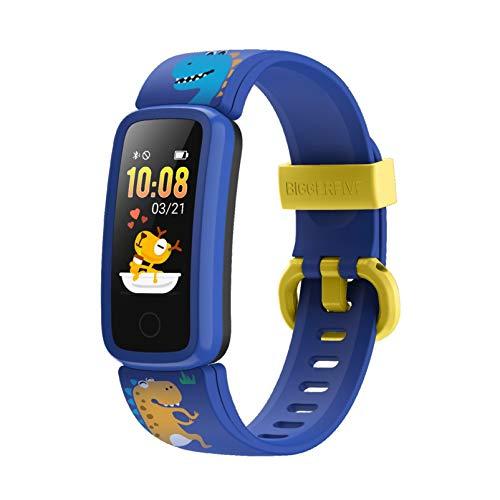 BIGGERFIVE Pulsera Actividad Inteligente Reloj Inteligente para Niños Niñas Mujer, Impermeable IP68 Smartwatch con Podómetro Pulsómetros Monitor de Sueño Contador de Caloría y Despertador Vibrador