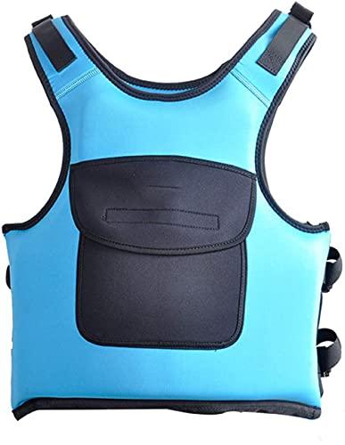 YZJL Chaquetas y Chalecos salvavidasChaleco Salvavidas Natación Reflectante Ajustable Snorkeling Chaleco Salvavidas Natación Kayak Chalecos Salvavidas(Color:Blue;Size:Medium)