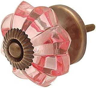 Bombay Duck SBG150PX 4 cm Vintage Melon Glass Door Knob - Pink (6 Units)