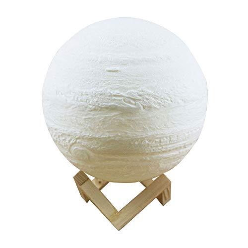 KKmoon 13 cm / 5,12 Zoll Moon Night Light 3D Druck Moon Globe Lampe 2 Farben Warm And Cool Weiß 3D Glowing Moon Lampe mit Halterung Touch Control Helligkeit USB Ladekabel für Zuhause Dekoration