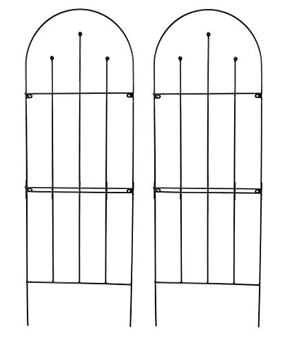 Ruddings Wood Set of 2 x Ingleton Design Metal Garden Trellis (179cm high) Plant Support