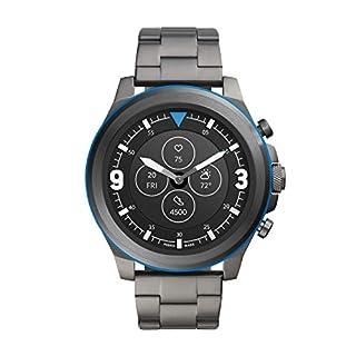 Fossil Men's 50MM Latitude HR HR Heart Rate Stainless Steel Hybrid HR Smart Watch, Color: Gunmetal/Blue (Model: FTW7022) (B086PCYW8K) | Amazon price tracker / tracking, Amazon price history charts, Amazon price watches, Amazon price drop alerts