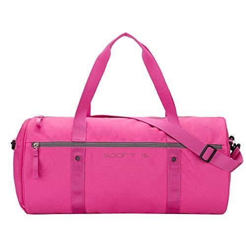 OIWAS Sporttasche Damen Klein Trainingstasche Herren Kinder Tasche mit schuhfach Reisetasche Handgepäck Krankenhaustasche Kliniktasche Weekender Gym Bag Badetasche 25L Rosa Pink