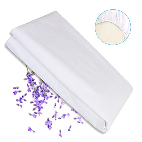 Karcore Spannbetttuch Wasserdicht 70x140 cm Baby Atmungsaktive Spannbettlaken Baumwolle Anti-Milben Anti-allergisch Schutzbezug für Babybett