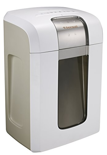 Bonsaii 240-Minute Heavy-Duty Micro-Cut Paper Shredder, P-5 High-Security (1/26 by 5/21 inches) with Destroying CD/Credit Cards, 5-Sheet Shredding Capacity, White (5S30)