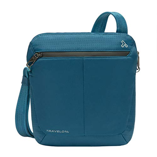 Travelon Anti-Theft Active Small Crossbody, Teal, One Size
