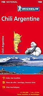 Carte NATIONAL Chili Argentine Michelin de Michelin