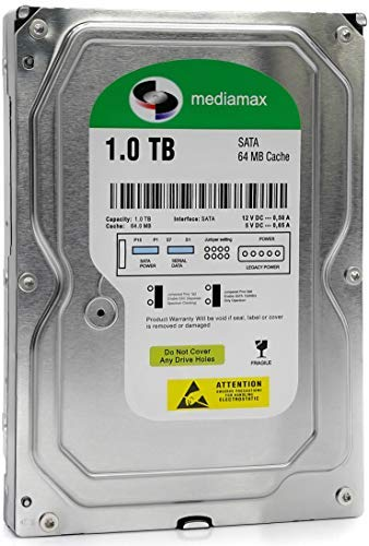 Mediamax 1TB HDD interne Festplatte 3.5 Zoll SATA III 6.0 Gb/s Cache 64MB, RPM: 5400 (U/min), 1000GB, WL1000GSA6454G, SATA Festplatte intern, Backup Festplatte für Desktop PC, Gaming Computer