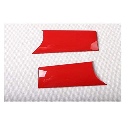 WeiYang Ajuste para Mini Cooper F55 F56 One 3 Puertas 2014-2021 2 UNIDS Fibra DE Carbono ABS ABS Car PUERA DE PUERA DE Puerta DE TECTOR DE Cubiertas DE TRIMEN Accesorios (Color Name : Red)