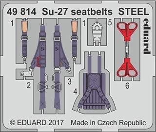 Eduard 1:48 Su-27 Seatbelts Steel Color PE Detail Set for Hobby Boss #49814