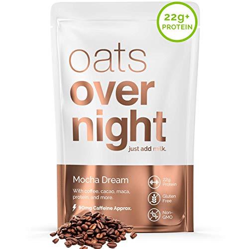 Oats Overnight - Mocha Dream (24 Meals) High Protein, Low Sugar Breakfast Shake with Coffee - Gluten Free, High Fiber, Non GMO Oatmeal (2.7oz per meal)