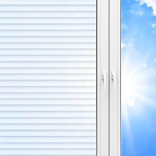 DUTISON Fensterfolie, Selbsthaftend Blickdicht Spiegelfolie, Anti-UV Folie/Sonnenschutz, Sichtschutzfolie Statische Folie ohne Klebstoff Für Zuhause Badzimmer oder Büro (60 x 220 cm)