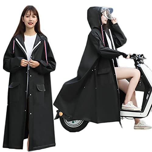 Hmpet Tuta Antipioggia Moto, Tuta Impermeabile Uomo, Antipioggia Moto Uomo, Riutilizzabile Giacca da Pioggia per L'esterno, per L'esterno, Corsa E Camminata,L