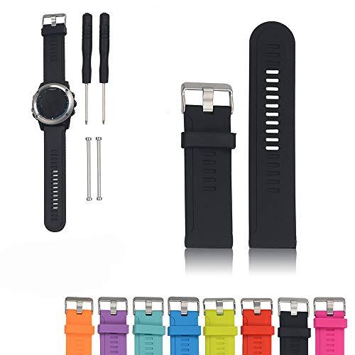 Für Garmin D2 / Fenix / Fenix2 / Fenix3 / Fenix3 HR / Quatix / Quatix3 / Tactix Sport GPS Smart Watch Ersatzband, iFeeker Soft Silikon Strap Ersatz Uhrenarmband für Garmin Smartwatch