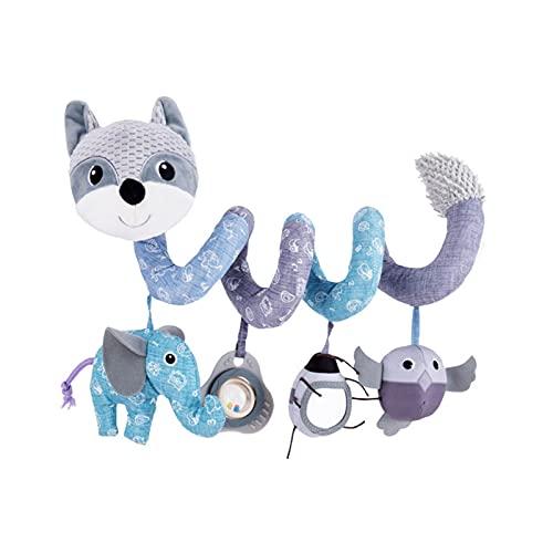 Hängande spiral mjuk barnvagn leksak, tecknad insekt hängande skallror musik förvrängande spegel spiral barnvagn bilstol leksak, spjälsäng bilstol leksaker för spädbarn, nyfödda