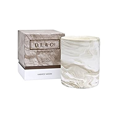 D.L. & Co. Marble Collection Harvest Moon Candle, 12-Ounce