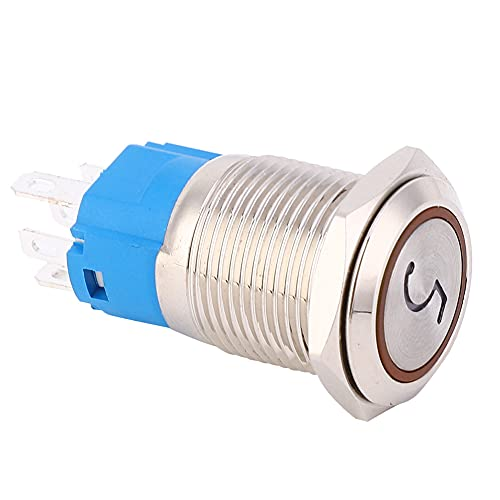 Interruptor de botón inoxidable, acero inoxidable del diámetro de la instalación del funcionamiento del contacto de Shell del acero inoxidable del metal con el acero inoxidable