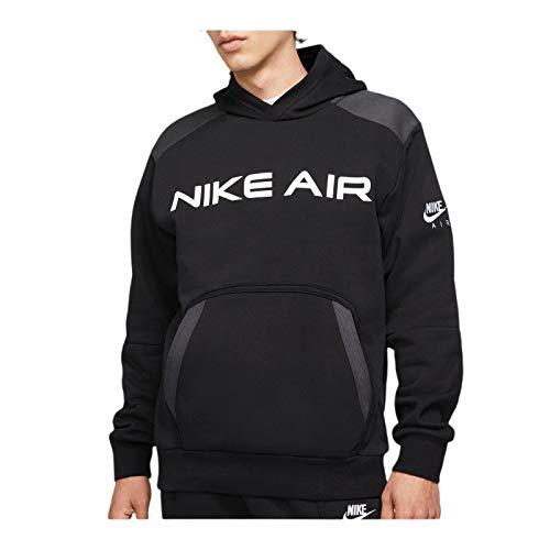 Nike DA0212-010 M NSW AIR PO FLC Hoodie Sweat Mens Black/dk Smoke Grey/(White) L