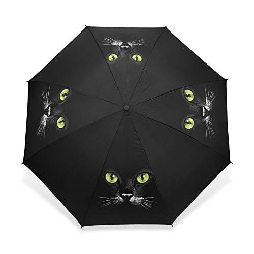 SJZS Tres Paraguas Plegable Paraguas automático Hombres Mujeres Guarda Chuva Compacto Negro...