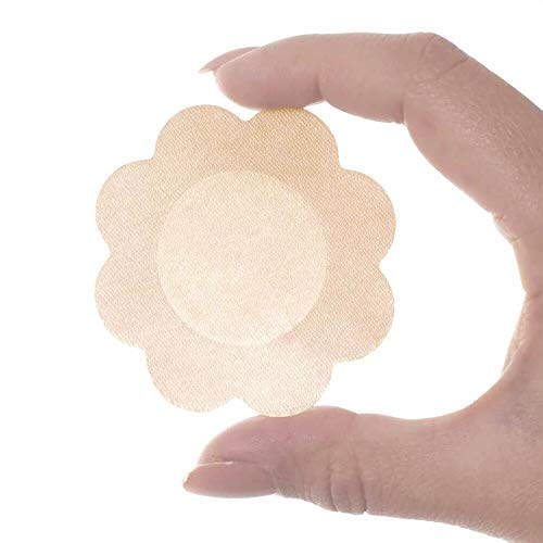 Superking 40 Pairs Nipple Breast Covers, Sexy Breast Pasties Adhesive Bra Disposable Beige