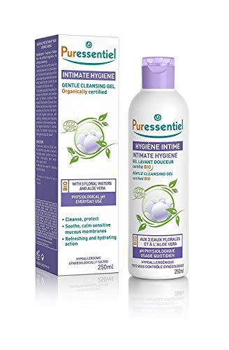 Puressentiel - Hygiène Intime - Gel Lavant Douceur aux 3 eaux florales et à l'aloé vera - Bio - Hypoallergénique - Usage quotidien pour muqueuses et peaux sensibles - 250 ml