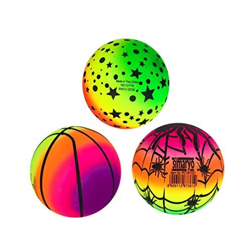 BESPORTBLE Balles Arc-en-Ciel 3 Pcs 16 Cm Élastique Écologiq