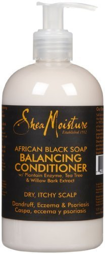 Shea Moisture African Black Balancing Conditioner-12 oz by Sundial BEAUTY (English Manual)