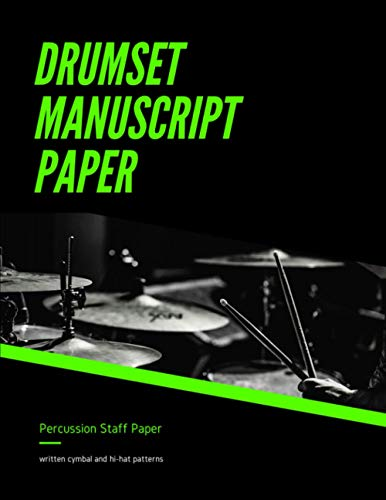 Drumset Manuscript Paper - Percussion Staff Paper - Written