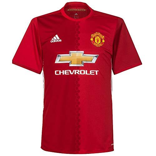 adidas da Uomo Manchester United Maglia Authentic Maglia di Calcio, Uomo, Manchester United Heimtrikot Authentic, Reared/Powred/White, S
