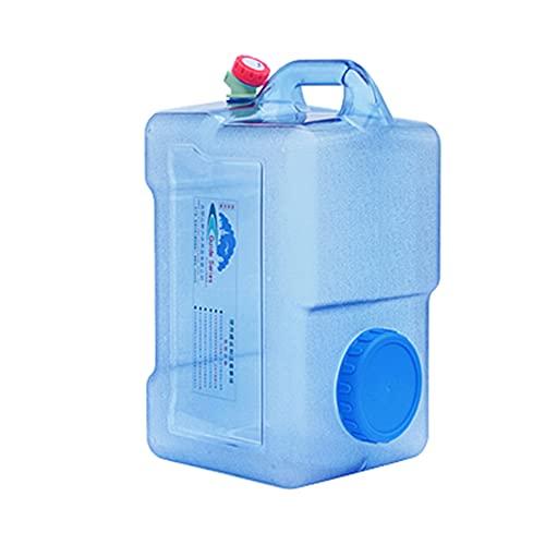 YXYXX Bidón Tanque De Agua Recipiente de Agua Con Grifo, 5/8/12/18/22 / 25L, Apto para Camping y Coche al Aire Libre/azul / 50×26×27cm