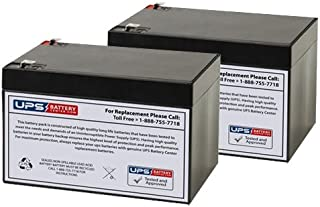 Currie eZip 750, E-750 12V 12Ah Electric Scooter Replacement Battery Set