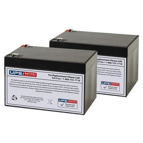 Salorr E-3007 12V 12Ah Electric Scooter Replacement Battery Set