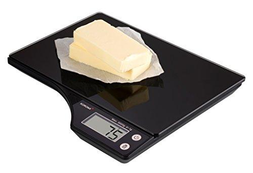 Korona 70240 keukenweegschaal KLINA, compact, digitale weegschaal, glas, zwart